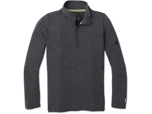 Smartwool Merino 250 T-Shirt Couche De Base Zip Enfant, charcoal heather